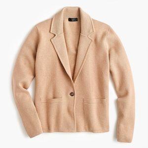 J Crew Margot Cropped Sweater Blazer sz L Khaki